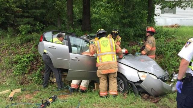 At least three people were injured following a crash involving a driver's education car Tuesday afternoon.