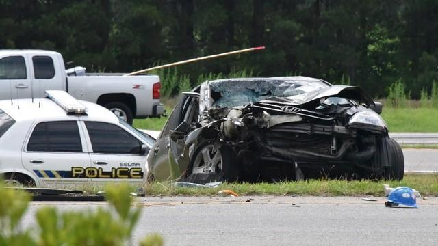 A woman was killed Saturday afternoon following a crash in Johnston County.