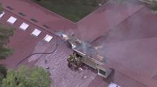 IMAGES: Fire damages roof at Chapel Hill retirement community
