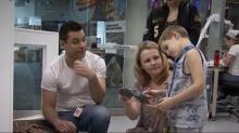 IMAGES: Boy battling cancer fulfills dream of becoming paleontologist