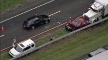 IMAGES: Crash clogs northbound I-95 traffic in Cumberland County