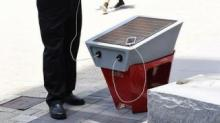 IMAGES: Solar-powered cellphone charging stations coming to downtown Raleigh