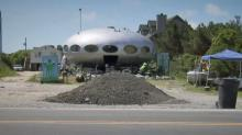 IMAGES: Debate takes off over future of 'Frisco UFO,' an Outer Banks staple