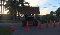 IMAGES: Water main break closes Fillyaw Road in Fayetteville