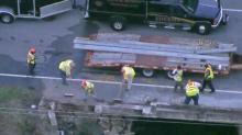 Crews making repairs to Wilson bridge following wreck