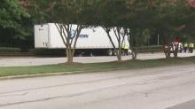 1 injured in Garner wreck involving 18-wheel trailer