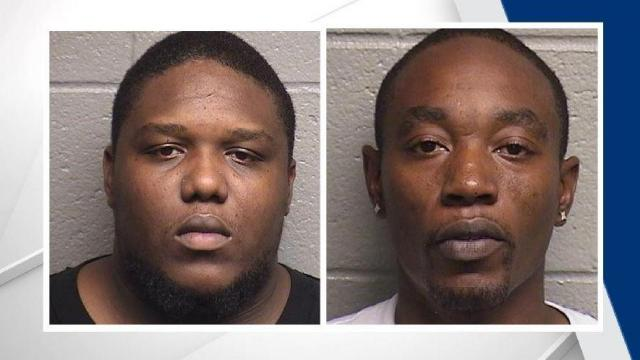 Steven Lee McBroom, 35, and Christopher Terrell Stanback, 29, were taken into custody on Friday at 1221 East Club Boulevard.