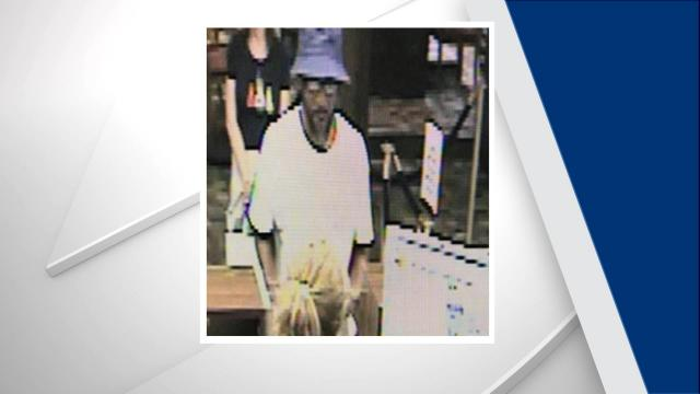 Hillsborough police are searching for a man who robbed a bank Monday afternoon.