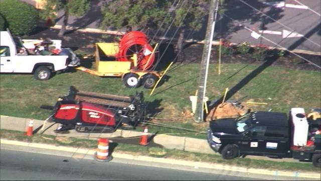 Natural gas leak closes N.C. 55 in Apex; business evacuated as crews work on repairs