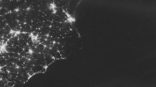 Lights on: See the OBX power outage from space