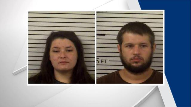 Haley Trantham, left, and Vincent Lee II were charged with two counts of child abuse.