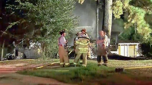 Four people escaped a Knightdale home after it caught fire early Friday morning.