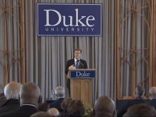 Duke University welcomes new president