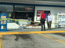 Woman drives car into Clayton convenience store; no injuries reported