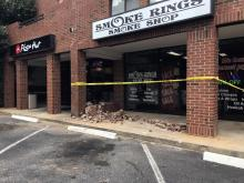 Car into Raleigh building