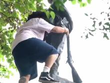 Protesters topple Confederate statue during Durham rally