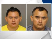 Two men arrested after two pounds of meth found in Moore County