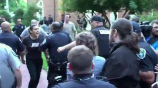 Police detain UNC-Chapel Hill protester