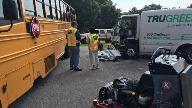 At least one person injured after school bus crash in Johnston County