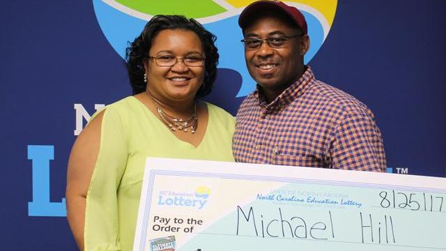 Michael Hill, of Leland, won a $10 million prize in a scratch-off lottery.