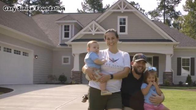 Wounded veteran welcomed home with custom house in Pittsboro
