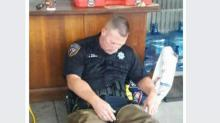 Photo of sleeping Texas officer goes viral