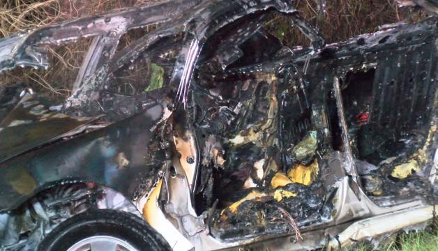 1 dead in fiery, single-car crash near Wilson