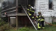 IMAGES: Empty Carthage home burns twice in 2 days