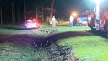 IMAGES: 56-year-old driver dies near Benson after crash into power pole