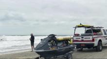 Rescue team prepared to help stranded swimmers, surfers