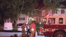 IMAGES: Person injured in Cary townhome fire