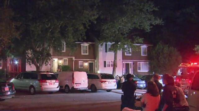 Person injured in Cary townhome fire