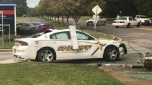 IMAGES: Three patrol cars damaged after Durham chase