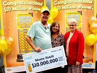 Marine Corps veteran wins $10 million lotto prize while watching football