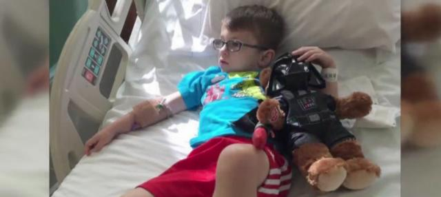 'I need you to look out for some Jedi:' Darth Vader helps send sick boy to Disney
