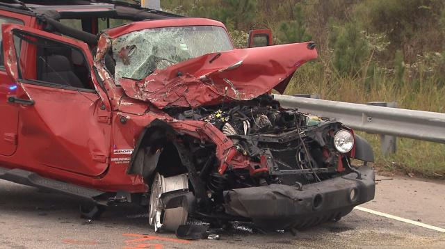 School bus, Jeep involved in crash in Apex