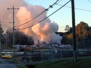 Crews fight fire at Durham's Water World