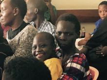 Uganda trip patients wait to be seen