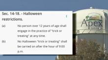 IMAGE: Too old to trick-or-treat? Decades-old Apex ordinance says so