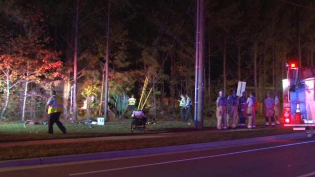 One person died and another was seriously injured on Friday night in a single-vehicle wreck in Apex.