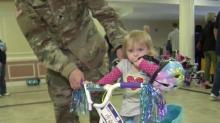IMAGE: 'It's actually a blessing:' Children of Ft. Bragg soldiers receive new bicycles