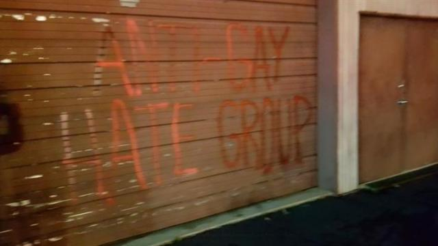 NC church fire ruled arson, 'anti-gay' graffiti found