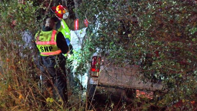 The driver of a pickup truck died and a passenger was injured in a crash Tuesday night on Interstate 40 near Benson.