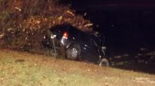 IMAGES: Man charged after airborne car crashes into Aberdeen lake