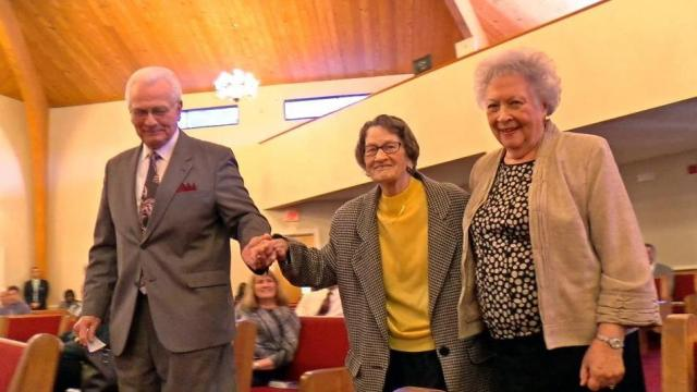 99-year-old piano player celebrates her birthday at Clayton church