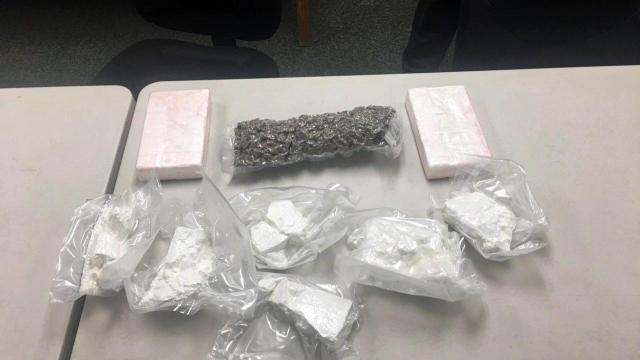 Authorities seized almost $600,000 worth of cocaine from two people on Thursday during a traffic stop in Nash County.