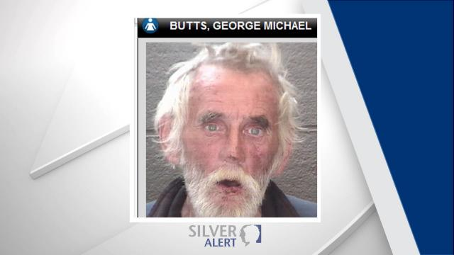 George Michael Butts, 60, is white with long, white hair and blue eyes. He is about 5 feet 6 inches tall and weighs 140 pounds.