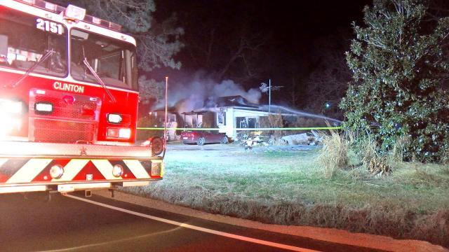 Clinton house fire