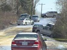 Multiple vehicles crash on Durham's Roxboro Road