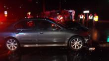 IMAGES: Two injured in wreck involving overturned ambulance in Pinehurst